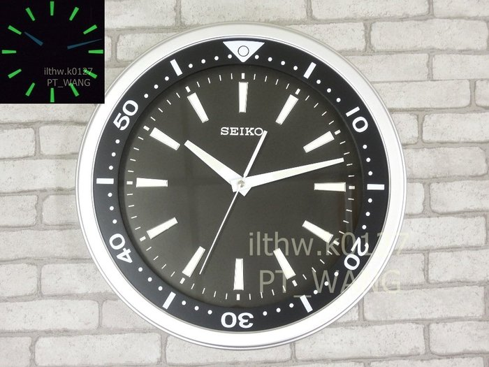 《《 PT屏信時計 》》 日本 精工 SEIKO 靜音 夜光 潛水錶造型鐘 時鐘 掛鐘 QXA 723、QXA723A