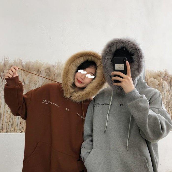 【NoComment】少見時尚休閒舒適有質感的一款毛絨連帽長袖 兩色 ZARA Gucci