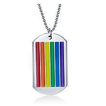 《316小舖》【F514】(優質白鋼項鍊-彩虹同性飾品鋼項鍊-單件價 /同性項鍊/同性戀項鍊/男男項鍊/女女項鍊)