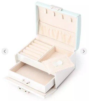 日本代購 人氣品牌 Afternoon Tea 蝴蝶結把手 淺藍色 M號 首飾盒
