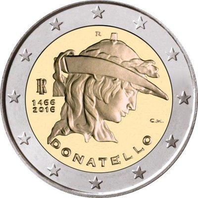 """【幣】EURO 義大利2016年發行 """"多那太羅逝世550周年"""" 紀念幣 2歐元"""
