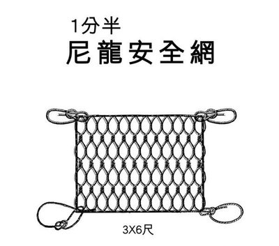 【TRENY直營】台灣製造 尼龍安全網 1分半 特多尼龍繩 PE繩 尼龍繩 安全 居家 繩子 安全網 2314