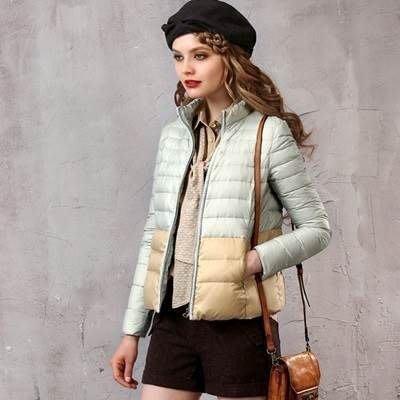 羽絨衣 羽絨外套(零碼賠售出清、恕不退換)- 短款保暖修身顯瘦女夾克72i3[獨家進口][米蘭精品]