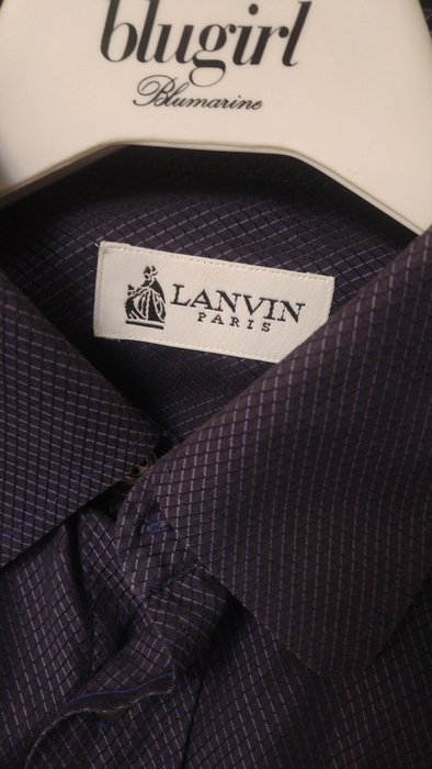 Lanvin 浪凡神秘午夜藍長袖襯衫