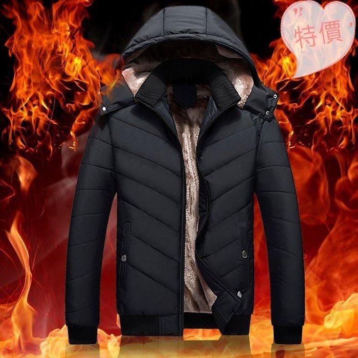 東大門平價鋪  中年男士冬裝羽絨棉服外套,冬季加絨加厚中老年人棉衣