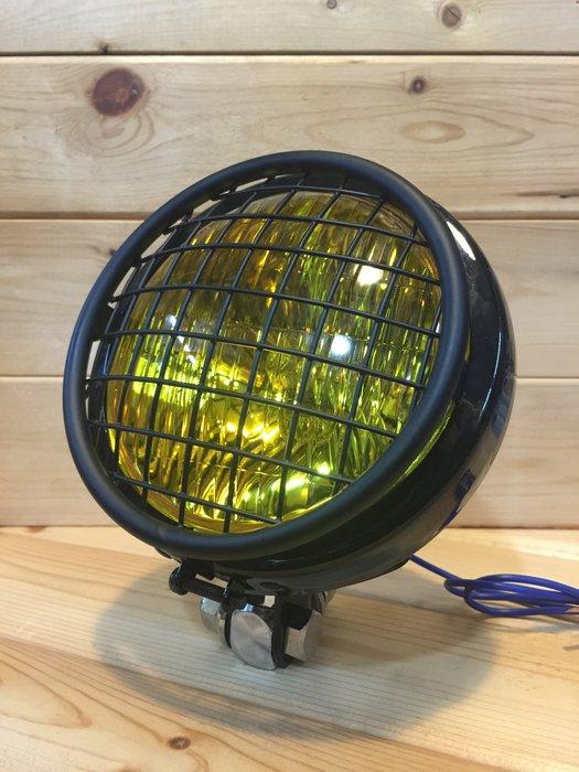 (I LOVE樂多)4.5扁圓大燈+不銹鋼手工柵欄燈罩組合