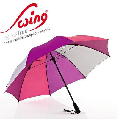 德國[EuroSCHIRM] 全世界最強雨傘 SWING HANDSFREE / 免持健行傘 大(深紫)