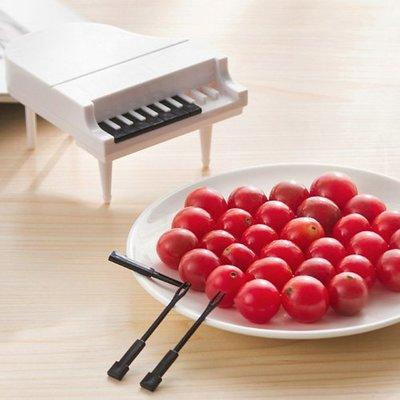 【創意蒐藏家】創意可愛鋼琴點心水果叉 9支裝  沙拉叉 蛋糕叉