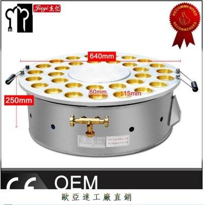 【歐亞達工廠直銷】杰億雞蛋漢堡機商用32孔紅豆餅機銅板r燃氣蛋堡機車輪餅FY-32H.ROYD-471471