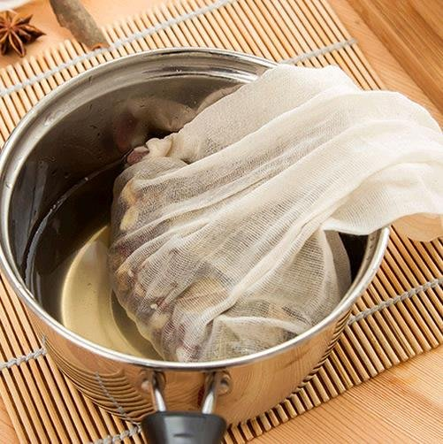 【AMAS】-家用重復用純棉紗布袋調料煎藥茶包袋泡酒過濾煲湯袋 中藥袋