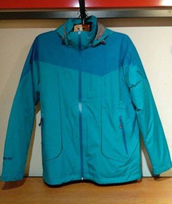 歐都納 男款 GORE-TEX 男防水外套 登山外套 內裏羽絨外套 兩件式外套