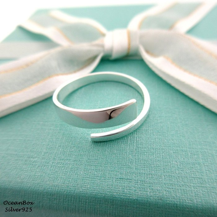 ☆§海洋盒子§☆質感方邊雙線條。開口式純銀戒指 OB4304(B)《925純銀》