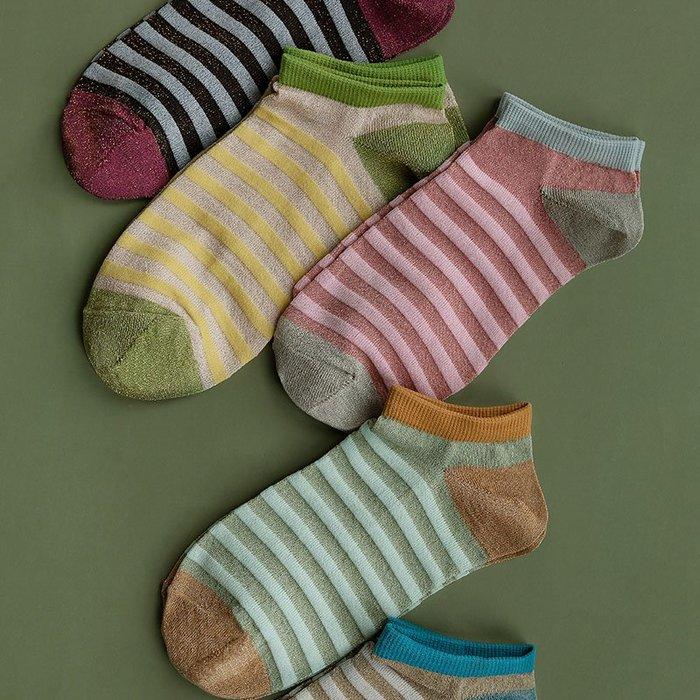 襪子 靴下物新款橫杠小清新女襪夏季舒適透氣淺口襪子薄款低幫文藝短襪