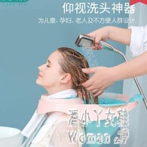 成人兒童通用仰視洗頭神器家用大人月子孕婦洗頭躺椅式洗頭盆『鑽石女王心』