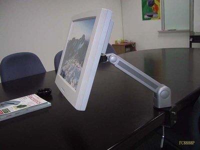 半價折扣 適合辦公桌液晶螢幕旋轉人體工學手臂機構支架-高級夾桌壁掛二用型(台灣製)