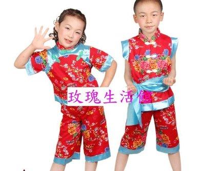 【玫瑰生活館】~  男女童客家花布風~油桐花客家民族舞蹈服