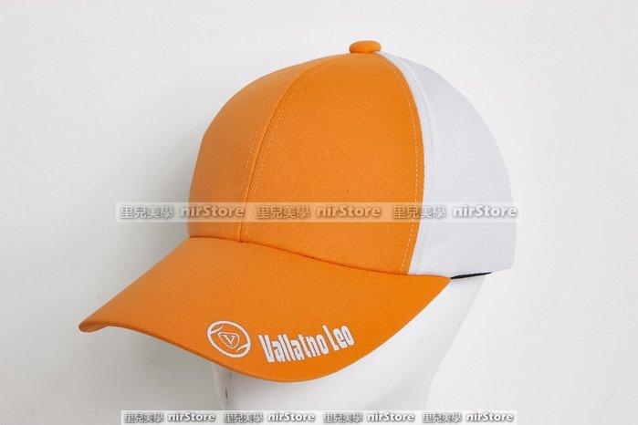 【VS-78n16-02】男女棒球帽子吸濕排汗橘白台灣製造團體服制服團體制服刺繡字高爾夫球帽登山戶外露營爬山