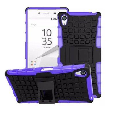 索尼 Sony Z5 Premium 手機殼 輪胎紋 Z5 Plus 保護殼 全包 防摔 支架 硬殼 N│檸檬3C