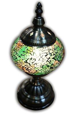 (台中 可愛小舖)歐式復古風格銅合金曲線造型玻璃彩繪燈桌燈造型擺飾燈鐵藝燈特色燈居家擺飾收藏擺飾車庫花園園藝店庭院