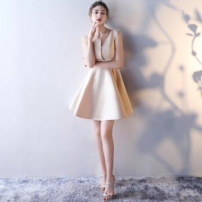 YEAHSHOP 尾牙禮服 新款四季韓版短款聚會派對小禮服顯瘦連衣裙女 3335Y185