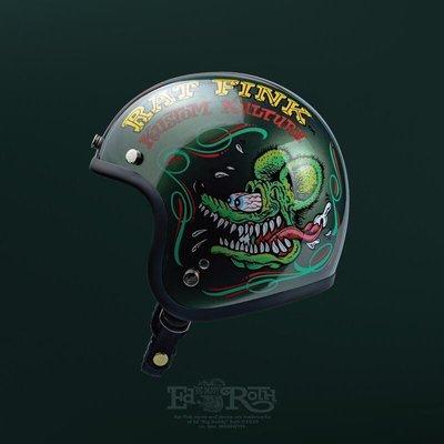 (I LOVE樂多) 10/8號當天開賣 Gallop X Rat Fink 老鼠芬克 聯名限定安全帽窄版小帽體 橄欖綠