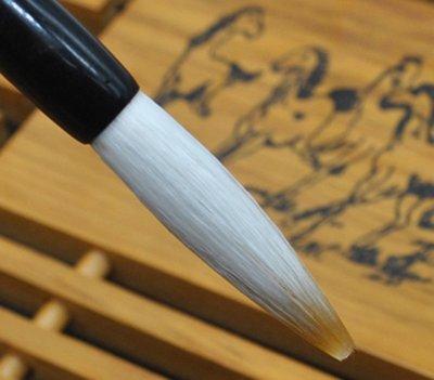 宇陞精品-H011-善璉湖筆-特製狼羊兼毫大中小楷毛筆-適用書法繪畫-大楷-出鋒4.5cm-筆桿長23.5cm-入門款