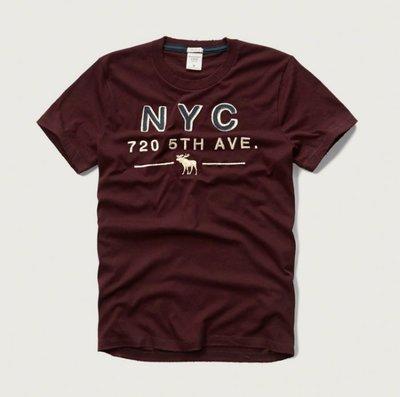 美國AMPM【現貨 #T65】AF/ A&F  男版  麋鹿 刺繡貼布短T APPLIQUE LOGO GRAPHIC