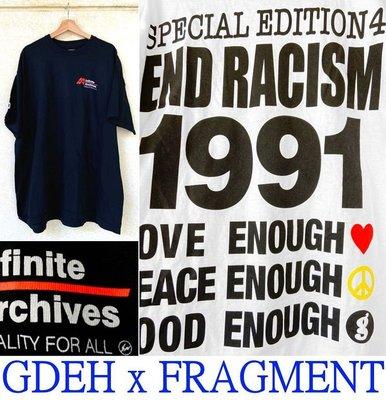 BLACK藤原浩著!全新FRAGMENT x GOOD ENOUGH三十周年美國黑人人權義賣GDEH短T