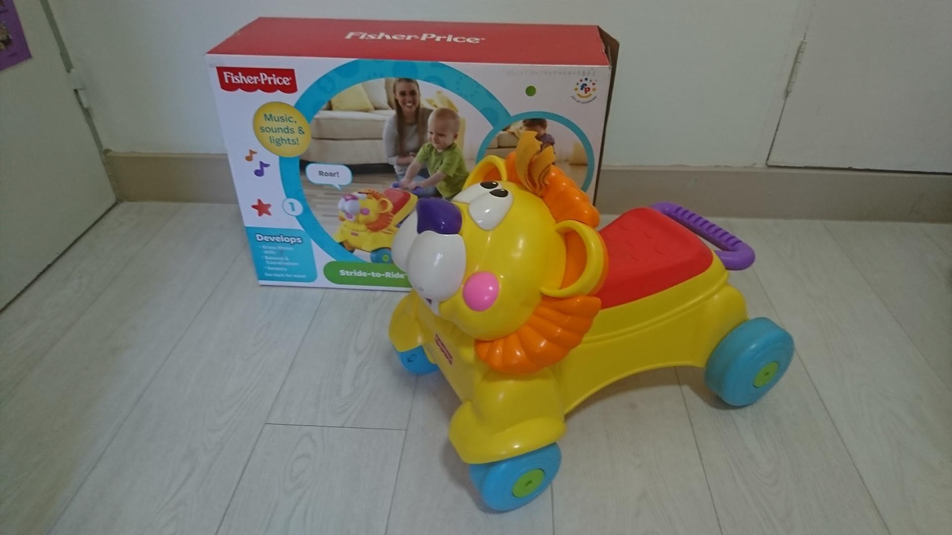 費雪 Fisher-Price 獅子聲光音樂學步車 可坐可扶兩用學步車 寶寶必買好用學步 八成新 只在家裡用