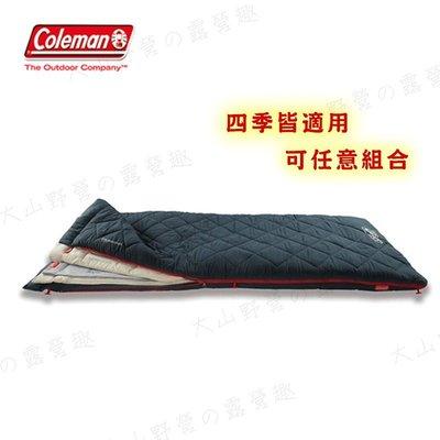 【大山野營】Coleman CM-34777 多層睡袋 纖維睡袋 可組合 可拆式 三層睡袋 保暖睡袋 露營睡袋