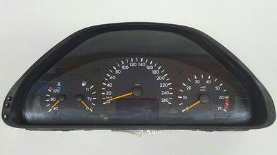 BENZ W210 M112 99-00 (黑色底) 儀表總成 儀錶  大螢幕 (外匯) 2105405748