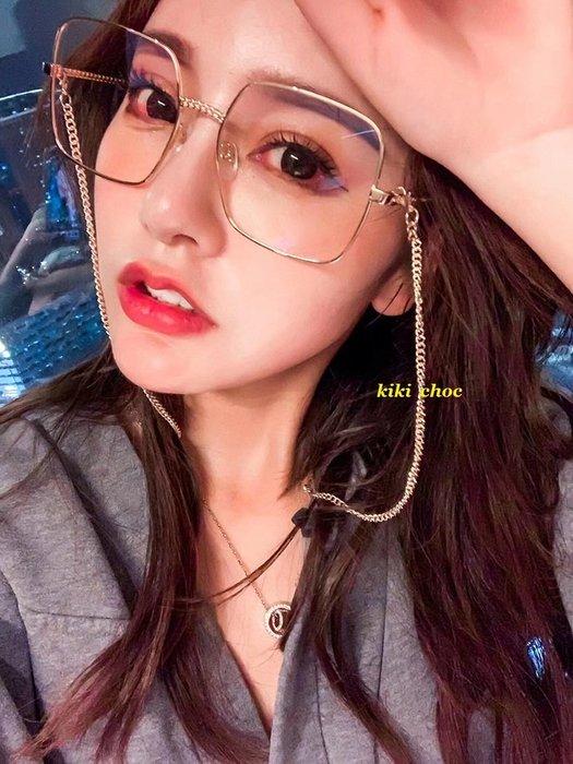 ♥kiki choc♥韓系 名媛風交叉鏤空鏡架方框平光眼鏡/可配度數近視眼鏡 小臉眼鏡 太陽眼鏡墨鏡