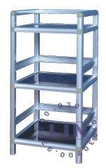 【品特優家具倉儲】P104-02鋁架廚房置物架得意1.2尺黑桃空架