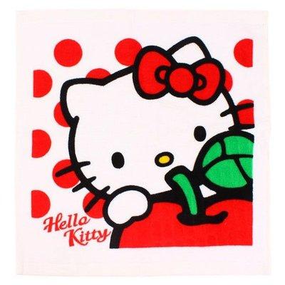 GIFT41 土城店 市伊瓏屋 凱蒂貓 方巾 蘋果 HELLO KITTY KT 正版 商品