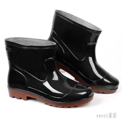 YEAHSHOP 雨鞋 高筒雨鞋男保暖低幫水鞋男士中筒防水鞋雨靴短筒水靴厚底膠鞋套鞋502949Y185