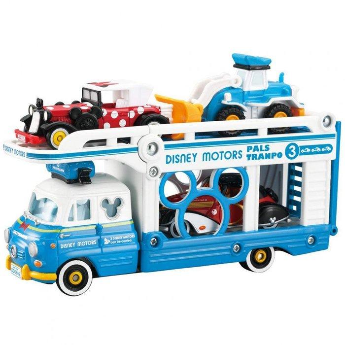 《TAKARA TOMY》TOMICA汽車組--迪士尼小汽車運輸車--唐老鴨