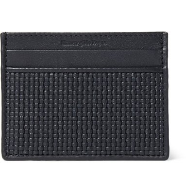 ERMENEGILDO ZEGNA Pelle Tessuta Leather Cardholder 卡片夾 全新