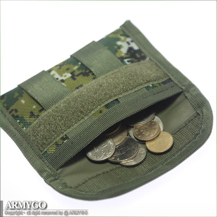 【ARMYGO】隨身零錢包 (國軍數位迷彩 / 黑 兩色可選擇)