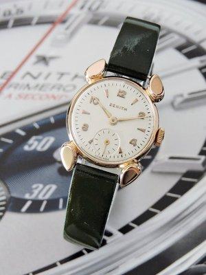 原裝真品 Zenith 真力時 先力 正18K金 玫瑰金 典藏米老鼠造型手動上鍊機械古董女錶