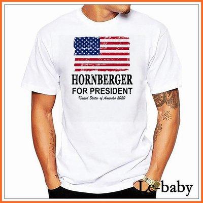 Le-baby 2020美國總統大選USA國旗T恤 歐碼精品純棉字母印花短袖t ZN38076棉T