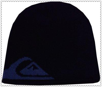 全新 QUIKSILVER 黑色 厚實保暖 粗針織 毛帽 300含運費