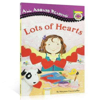 英文原版繪本 All Aboard Rearding:Lots of Hearts 汪培珽一階段