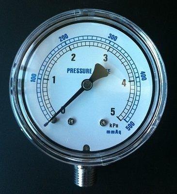 微壓錶微壓計微壓表壓力表--運用調整瓦斯火力需專業人士瓦斯壓力錶另售針閥和球閥咖啡烘焙機(Rotate Fun 300