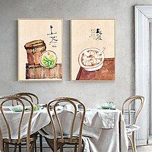 新中式簡約民俗民味裝飾畫畫芯微噴打印畫芯餐廳客廳掛畫壁畫心(不含框)