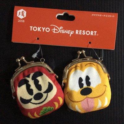東京迪士尼 TOKYO DISNEY MICKEY 米奇 PLUTO 布魯托 達摩 零錢包 吊飾 **購自日本**