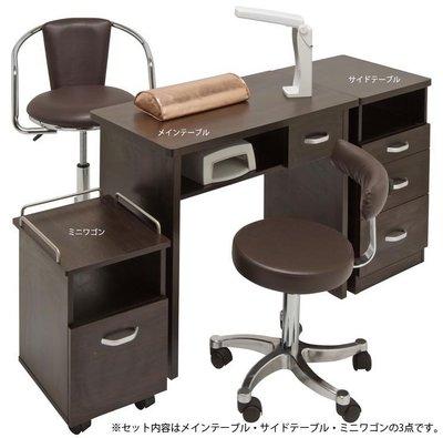 預購《SalonPlanet沙龍之星》Fifty Visionary三件式美甲桌Basic-咖啡色