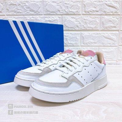 【豬豬老闆】ADIDAS ORIGINALS ZAPATILLAS 白粉 皮革 休閒鞋 女鞋 EF9219