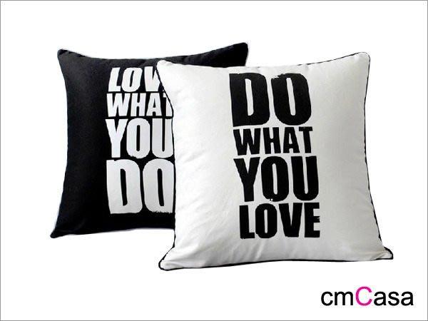 = cmCasa = [3437]簡約時尚設計  做你所愛黑白抱枕套 豪宅好禮