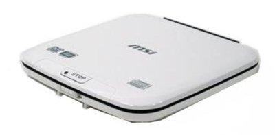 全新未使用msi 微星  8x slim外接式DVD-RW光碟燒錄機顏色:白色