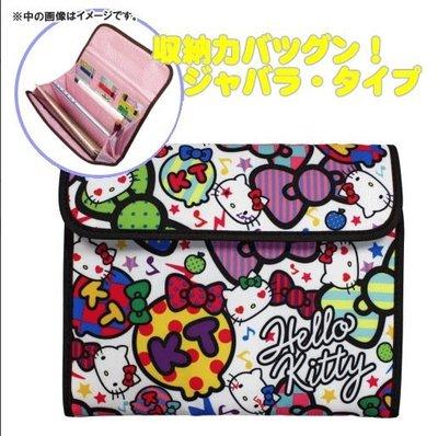 【小糖雜貨舖】日本 母子手帳冊 收納健保卡 信用卡 寶寶寫真卡 存摺 硬幣 照片 - Hello Kitty 繽紛色彩